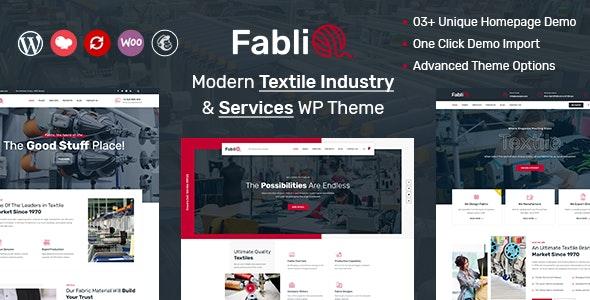 Fablio - Textile Industry WordPress Theme - Business Corporate