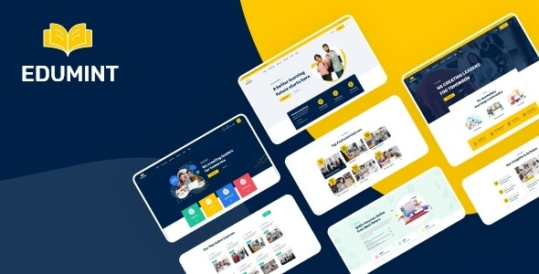 Edumint – LMS & Online Education Learning XD Template - Adobe XD UI Templates