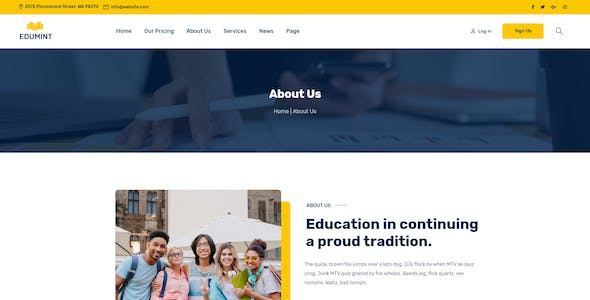 Edumint – LMS & Online Education Learning XD Template