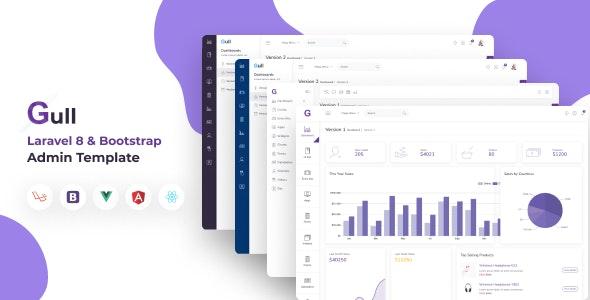 Gull -  Bootstrap 4 HTML & Laravel  Admin Dashboard Template - Admin Templates Site Templates