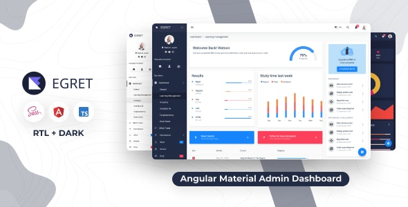 Egret - Angular 11+ Material Design & HTML Admin Template - Admin Templates Site Templates