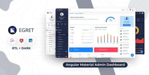 Egret - Angular 11+ Material Design & HTML Admin Template