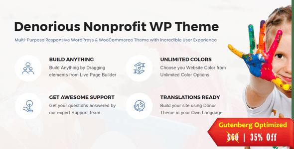 Denorious | Nonprofit and Political Fund Raising WP Theme - Nonprofit WordPress