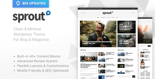 Sprout - Clean Blog/News/Magazine Responsive Theme - News / Editorial Blog / Magazine