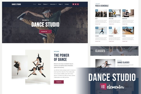 Dance Studio - Elementor Template Kit - Sport & Fitness Elementor