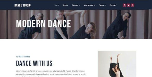 Dance Studio - Elementor Template Kit