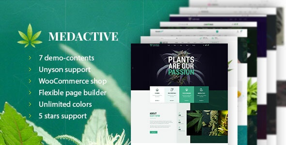 Medactive - Medical Marijuana Dispensary WordPress Theme - Business Corporate