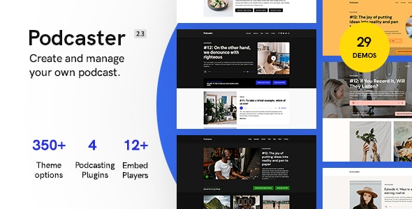 Podcaster - Multimedia WordPress Theme - Blog / Magazine WordPress