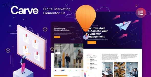 Carve — Digital Marketing Elementor Template Kit