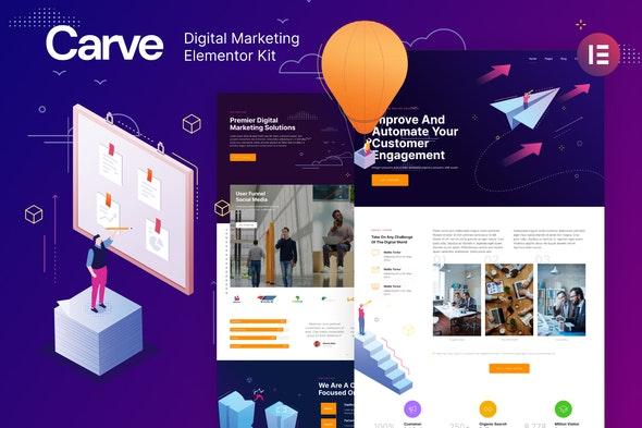 Carve — Digital Marketing Elementor Template Kit - Business & Services Elementor