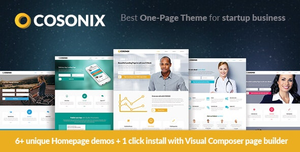 Cosonix - One-Page Theme for eBook, App and Agency - Marketing Corporate