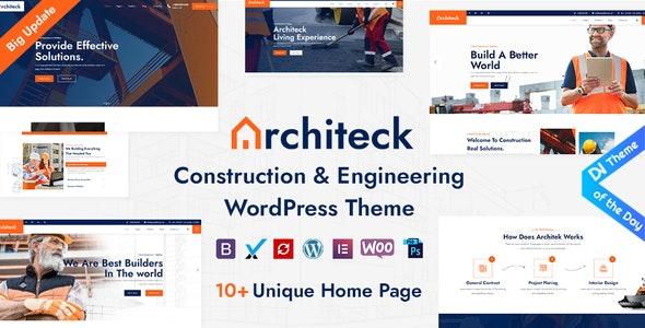Architeck - Construction WordPress Theme - Corporate WordPress
