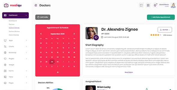 Mediqu - Hospital React Admin Dashboard Template