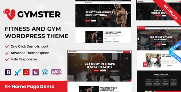 Gymster  - Fitness and Gym WordPress Theme - Health & Beauty Retail