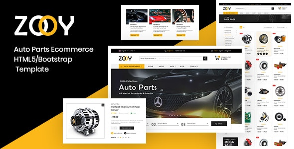ZOOY - Auto Parts Store HTML Template - Shopping Retail