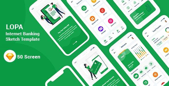 Lopa - Internet Banking Sketch Template