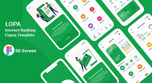 Lopa - Internet Banking Figma Template - Figma UI Templates
