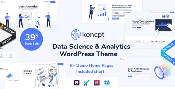 koncpt - Data Science & Analytics WordPress Theme - Technology WordPress