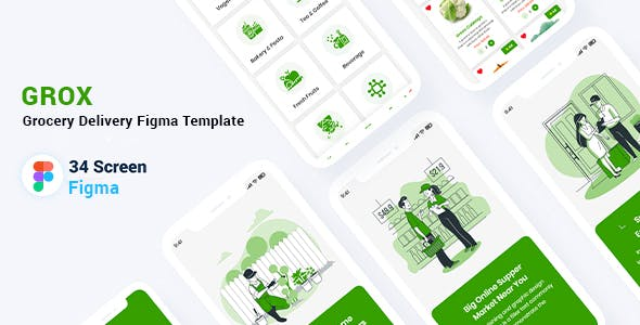 Grox - Grocery Delivery Figma Template