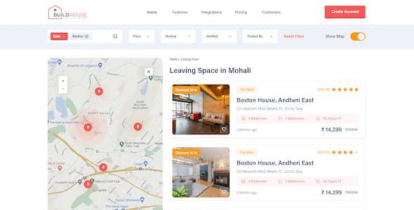 Buildhouse- Real Estate XD Template UI Design Template