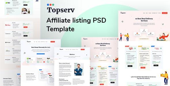 Topserv - Affiliate Listing PSD Template