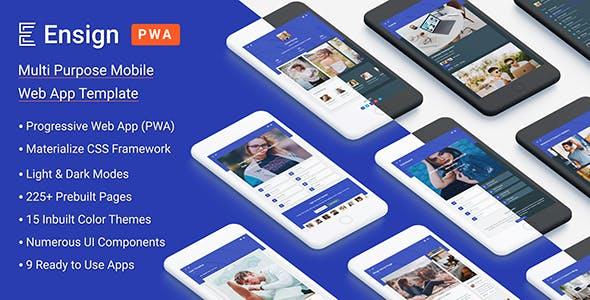 Ensign: Multi Purpose PWA Mobile App Template
