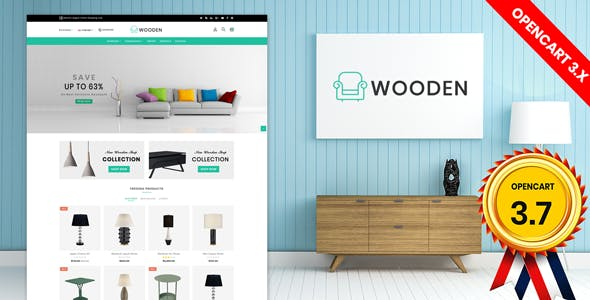 wooden furniture opencart 3.x theme (Free Installation)