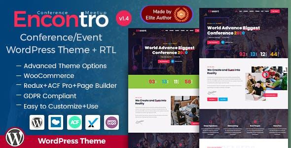 Encontro - Conference & Event WordPress Theme