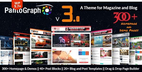 PantoGraph - Newspaper Magazine Theme - Blog / Magazine WordPress