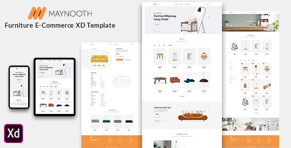 Maynooth - Furniture Ecommerce Website - Shopping Retail