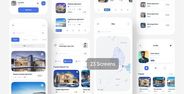 Revalx - Real estate app UI kit For Figma