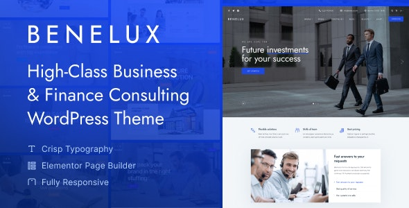 Benelux - Business & Finance Consulting WordPress Theme - Business Corporate