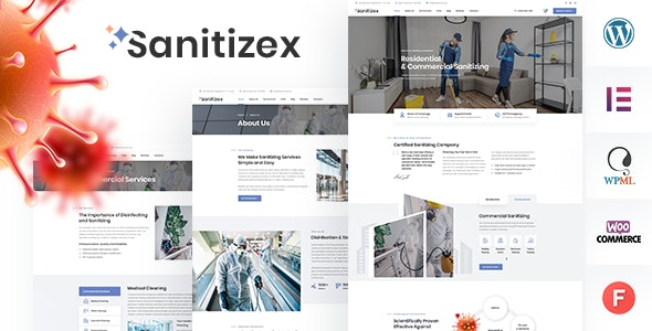 Sanitizex - Sanitizing and Cleaning Services WordPress Theme - Business Corporate