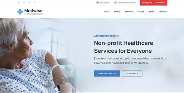 Medwise - Healthcare & Medical Bootstrap Template
