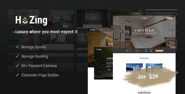 Hozing Hotel Booking v1.0.9 – WordPress Theme