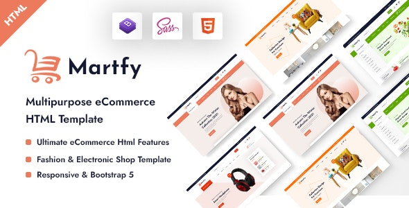 Martfy - Multipurpose eCommerce HTML Template - Site Templates