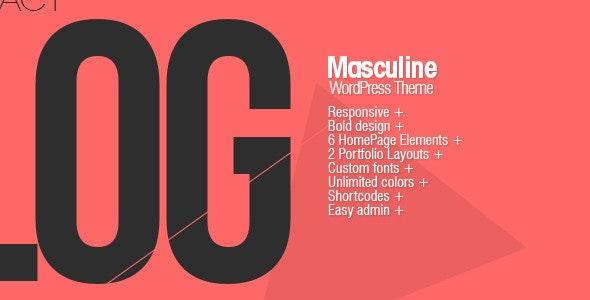 Masculine - Responsive WordPress Theme - Portfolio Creative