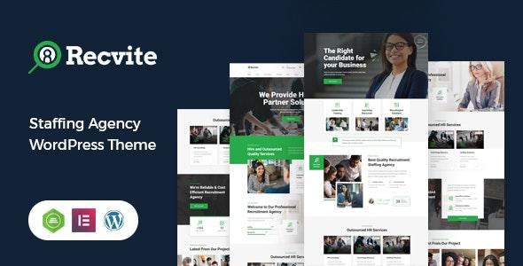 Recvite - Staffing Agency WordPress Theme - Business Corporate