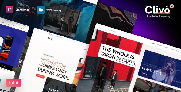 Clivo - Portfolio & Agency WordPress - Portfolio Creative