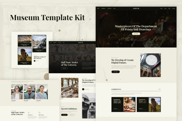 Ozeum - Modern Art Gallery & Museum Elementor Template Kit - Creative & Design Elementor