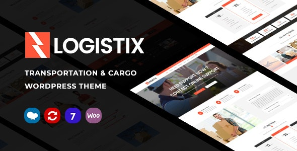 Logistix v1.13 – Responsive Transportation WordPress Theme
