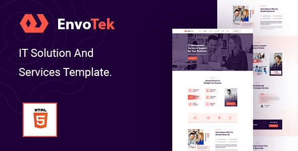 EnvoTek v1.0 – IT Solution and Services HTML5 Template