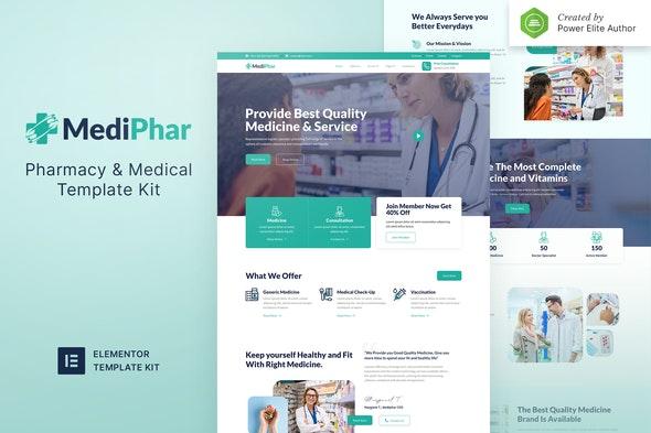 Mediphar – Pharmacy & Medical Elementor Template Kit - Health & Medical Elementor