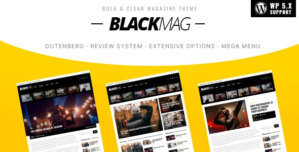 BLACKMAG - Bold & Clean Magazine Theme