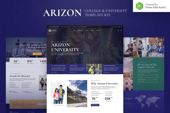 Arizon – College & University Elementor Template Kit - Education Elementor