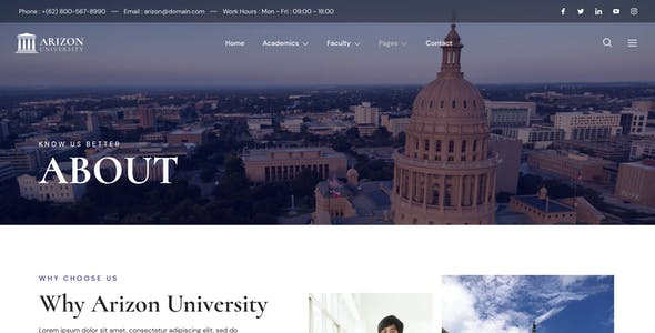 Arizon – College & University Elementor Template Kit