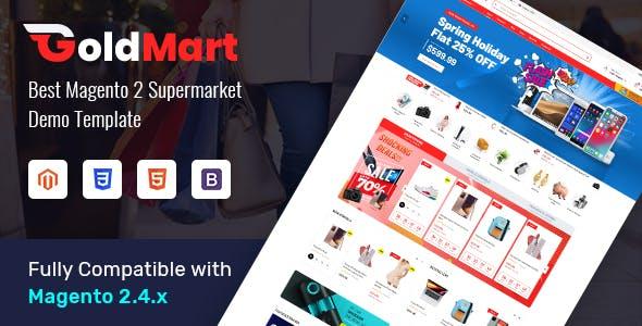 Goldmart - Modern Marketplace Magento 2 Theme