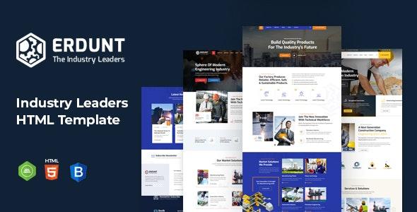 Erdunt - Industrial Business HTML Template - Business Corporate