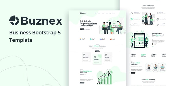 Buznex v1.0 – Corporate Business Bootstrap5 Template