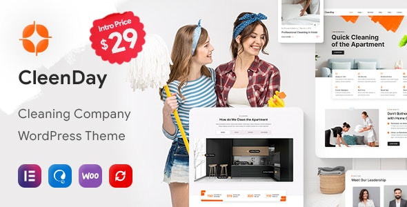 CleenDay - Cleaning Company WordPress Theme - Business Corporate